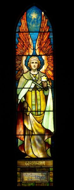 Thyatira (detail), c. Stained glass, Tiffany Studios, New York. Exhibition organized by In Company with Angels, Inc. Stained Glass Church, Stained Glass Angel, Tiffany Stained Glass, Tiffany Glass, Stained Glass Windows, Religious Icons, Religious Art, Leaded Glass, Mosaic Glass