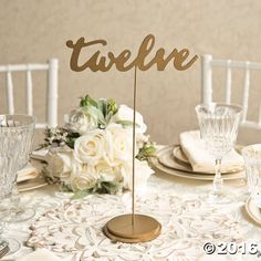 Designate wedding reception tables in a classic style. These wedding decorations add elegance to your seating chart. Stylish table numbers are a chic way to ...