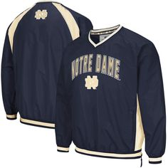 87f588a1c4e Notre Dame Fighting Irish Colosseum Big   Tall Fair Catch Pullover Jacket -  Navy
