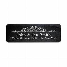 Chalkboard Flourish Address Labels