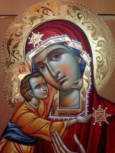 Byzantine Icons, Byzantine Art, Religious Pictures, Religious Icons, Orthodox Icons, Madonna, Mythology, Christ, Princess Zelda