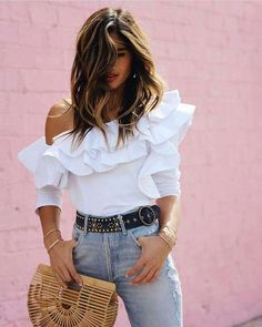 8 increíbles tips de moda para mujeres de espalda ancha – Fashion Trends 2020 Modadiaria 每日时尚趋势 2020 时尚 Simple Outfits, Classy Outfits, Summer Outfits, Casual Outfits, Cute Outfits, Fashion Tips For Women, Womens Fashion, Bota Over, Elegantes Outfit