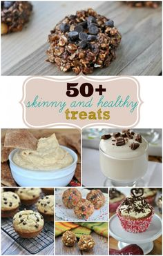 Over 50 skinny and healthy treat recipes that will satisfy your next sweet tooth craving!