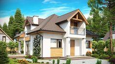 Tradycyjna bryła budynku o nowoczesnym wyglądzie i ciekawej funkcji. Design Case, Home Fashion, House Design, How To Plan, Mansions, House Styles, Interior, Home Decor, Templates