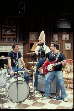THROWBACK THURSDAY: Bill Murray, Laraine Newman and John Belushi on the set during rehearsal back in the day.
