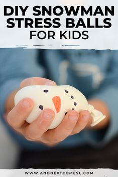 DIY snowman stress balls are so cute! Find out how to make homemade stress balls with this tutorial Toddler Preschool, Toddler Crafts, Toddler Activities, Easy Diy Crafts, Creative Crafts, Fun Crafts, Winter Activities, Craft Activities, Make A Snowman