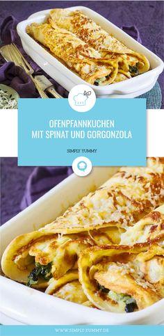 Einerseits Kindheitsklassiker andererseits Kindheitsschreck - das ist vielleicht das Erfolgsrezept dieser Ofenpfannkuchen mit Spinat und Gorgonzola. #vegetarisch #pfannkuchen #ofen #spinat #gorgonzola