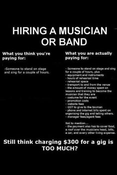 things to consider before hiring a musician...