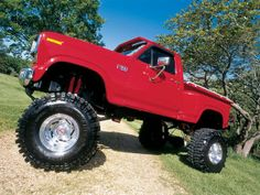 1986 Ford Stepside Pickup Truck lifted Maintenance of old vehicles: the material for new cogs/casters/gears/pads could be cast polyamide which I (Cast polyamide) can produce Big Ford Trucks, Classic Ford Trucks, 4x4 Trucks, Diesel Trucks, Lifted Trucks, Cool Trucks, Custom Trucks, Ford 4x4, Ford Bronco