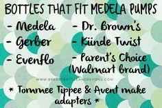 Bottles that fit Medela pumps #bottles #medela #pump