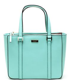 Another great find on #zulily! Kate Spade Mint Green Newbury Lane Cadene Leather Tote by Kate Spade #zulilyfinds