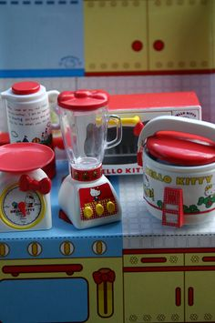 Hello Kitty appliances, all tied up with a little red bow by lili_mini, via Flickr
