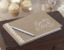 Geweldig vintage gastenboek voor je bruiloft // via trouwartikelen.nl
