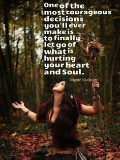 """Letting go doesn't mean that you no longer care about someone or something. It is the wholehearted decision to not let a person or situation have control over you any longer. You decide to stop pretending and let it go. Wiccan Quotes, Wise Women, Strong Women, Spiritual Awakening, Spiritual Wisdom, Spiritual Growth, Self Help, Life Lessons, Letting Go"