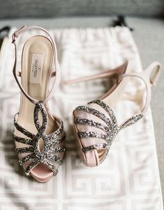 Featured Photographer: Michele Beckwith; Wedding shoes idea.