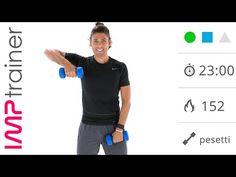 Allenamento Per Braccia, Spalle e Tronco Con Pesi ed Esercizi A Corpo Libero Libero - YouTube