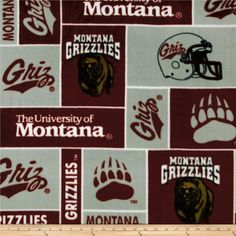 Cheer on University of Montana, your favorite college team with this collegiate fleece! With an anti-pill face this soft, warm and cozy fleece is perfect for throws, stadium blankets, seat cushions, hats, scarves, pillows, vests, pullovers and much more! This is a licensed product and not intended for commercial use.