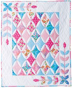 62 Ideas for baby girl quilts patterns pink sweets Baby Girl Quilts, Girls Quilts, Quilt Baby, Quilting Projects, Quilting Designs, Quilting Ideas, Cathedral Window Quilts, Cathedral Windows, Sew Kind Of Wonderful