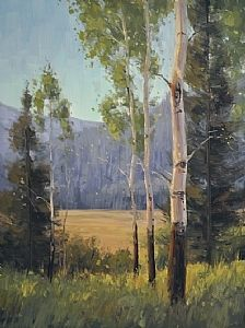 Summer Aspen Study by Stacey Peterson Oil ~ 16 x 12