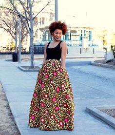 Melange Mode Maxi Skirt ~Latest African Fashion, African Prints, African fashion styles, African clothing, Nigerian style, Ghanaian fashion, African women dresses, African Bags, African shoes, Nigerian fashion, Ankara, Kitenge, Aso okè, Kenté, brocade. ~DKK