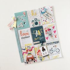 Ashton Court Pocket Letter, by Kylie Kingham using the Ashton Court collection from www.cocoadaisy.com #cocoadaisy #kitclub #scrapbooking #pocketpage #pocketletter #snailmail #DITL #diecuts #puffy #stickers #flair