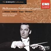 """John J. Puccio at Classical Candor reviews """"Promenade Concert,"""" with Herbert von Karajan and the Philharmonia Orchestra from EMI/Warner."""