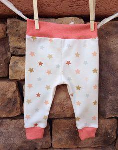 Newborn Star leggings. https://www.etsy.com/listing/180015835/star-baby-leggings-with-coral-waist