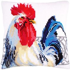 """Collection D'Art Needlepoint Kit 15.75"""" x 15.75"""" SPANISH HANDSOME CUSHION #5253"""