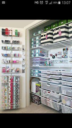 Organizationing closet for craft supplies,etc.
