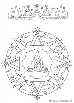 Mandalas 033 – Coloring Mood Too - Malvorlagen Mandala Cartoon Coloring Pages, Coloring Book Pages, Coloring Pages For Kids, Coloring Sheets, Camping Coloring Pages, Food Coloring, Mandala Indio, Mandalas For Kids, Form Design