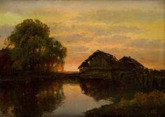 Wiktor Korecki - Pejzaż z jeziorem