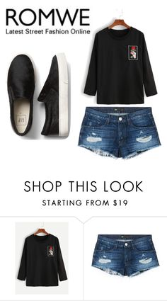 """""""ROMWE-T shirt"""" by amila-d ❤ liked on Polyvore featuring 3x1"""