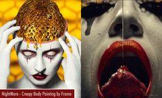 Creepy Body Painting Art works in AHS Season 7 titled Nightmare. Read full article: http://webneel.com/body-painting-art | more http://webneel.com/body-paintings | Follow us www.pinterest.com/webneel