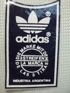 Adidas made in Argentina. Probably late 80s/early 90s