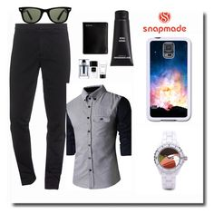 """Snapmade #3/3"" by spolyvore1 ❤ liked on Polyvore featuring Kenzo, Christian Dior, Samsung, Steve Madden, Ray-Ban, men's fashion and menswear"
