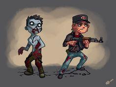 zombie and survivor concept art by Pa-Go.deviantart.com on @DeviantArt