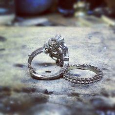Making more #rings #whitegold #jeweler #jewelrydesign #jewelerbench