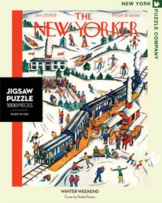 Winter Weekend – New York Puzzle Company. 1000 piece puzzle.