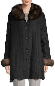 Silk Jacket, Fox Fur, Fur Trim, Fur Coat, Jackets, Fashion, Silk Bomber Jacket, Down Jackets, Moda