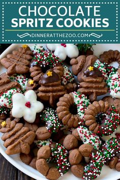 If you're looking for the best Christmas cookie recipes, this is the perfect Almond Spritz Cookies r New Year's Desserts, Holiday Desserts, Holiday Baking, Holiday Recipes, Christmas Recipes, Dinner Recipes, Christmas Sweets, Christmas Cooking, Noel Christmas