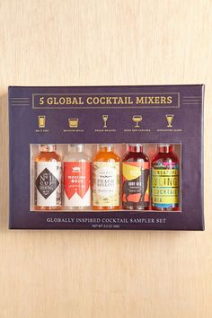 5-Piece Global Cocktail Mixer Set - for me, or would make a good book club/hostess gift