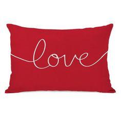 """Andover Mills Ursula """"Love"""" Mix and Match Lumbar Pillow Color:"""