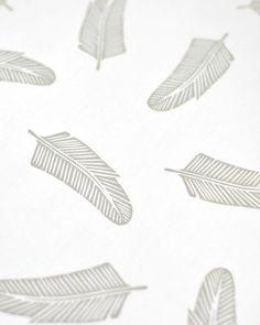 Quill in Dove Grey : organic cotton - Maze & Vale