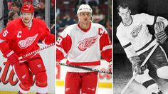 Hockey: Gordie Howe brought championships to Detroit. Then came the Steve Yzerman era. These are the greatest players to wear the winged wheel crest. Hockey Girls, Hockey Mom, Ice Hockey, Boys, Detroit Red Wings, Detroit Vs Everybody, Steve Yzerman, Red Wings Hockey, Detroit Sports