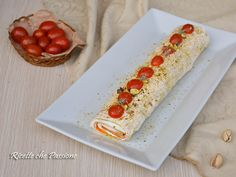 Tronchetto zucchine surimi e philadelphia con pistacchi
