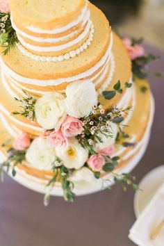 Wedding cake idea; Featured: Mayflour Confections