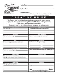 Creative Brief Format | Social Media And Information Sharing In ...