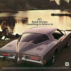 Some cars are just works of art, the 1971 Buick Riviera is one of them. Retro Ads, Vintage Advertisements, Vintage Ads, 1965 Buick Riviera, Automobile, New Car Smell, Michigan, Buick Cars, Car Advertising