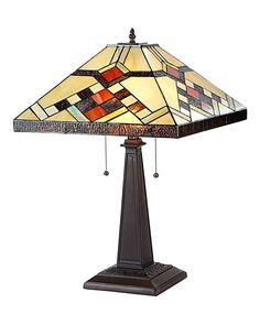 Arts & Crafts Calhourn Stained Glass Table Lamp