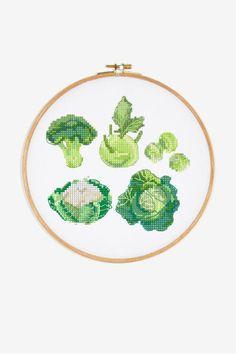 Cabbages - pattern - Free cross stitch patterns - DMC Cross Stitch Designs, Cross Stitch Patterns, Free Cross Stitch Charts, Free Charts, Flamingo Pattern, Dmc, Free Sign, Cotton Thread, Wool Yarn